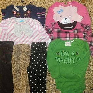 BUNDLED baby girl Fall clothes. Sz 6/9 months